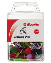 *Thumb Tacks Pins - Coloured Assorted 100pk