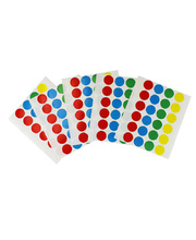 Permanent Circle Stickers 15mm Flat 120pk - Assorted