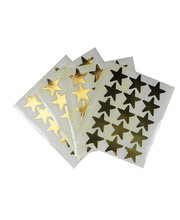Star Stickers 20mm Flat 60pk - Gold Large