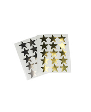 Permanent Star Stickers 20mm Flat Large - Gold & Silver Set of 10 Packs