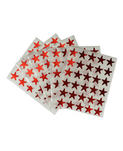 *Star Stickers Flat 150pk - Red