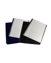 Display Book A4 Clearfront Refillable - Black 20 Pocket