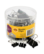 Marbig Fold Back/Binder Clips - Assorted Sizes 60pk