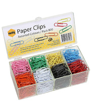 Marbig Paper Clips - Large 33mm Coloured 800pk
