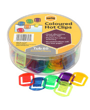 *SPECIAL: Marbig Coloured Hot Clips - 60pk