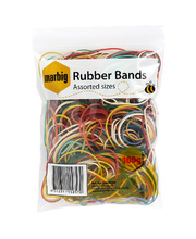 Marbig Rubber Bands - Assorted Sizes & Colours 280pk