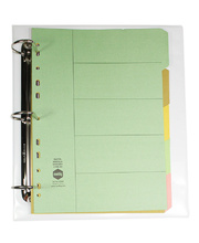 Dividers A4 Manilla - 5 Tab Pastel Coloured