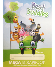 Best Buddies Mega Scrapbook 100gsm - 240 x 330mm 64pg