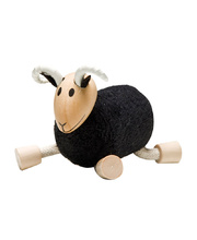 AnaMalz Farm Animals - Black Ram 7 x 4 x 8cm