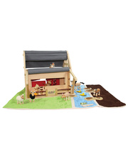 AnaMalz Farm Animals - Set of 8 & Barn House & Play Mat