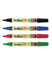 Artline 70 Bullet Permanent Marker - Black