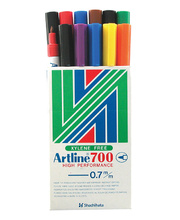 Artline 700 Fine Bullet Permanent Marker - Assorted 12pk