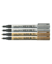 Artline Metallic Marker - 1.2mm Silver/Gold 4pk