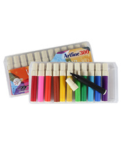 Artline Liquid Crayon Markers Assorted Colours - 12pk