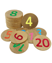 Wooden Memory Game - Numbers 1-20