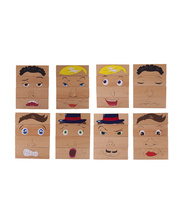 Wooden Blocks - How Am I Feeling 8pcs