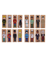 Wooden Blocks - Our Multicultural Community 12pcs