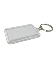 Key Tag Clear 10pk - Rectangle 30 x 50mm