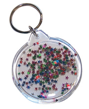 *Key Tag Clear 10pk - Round 50mm