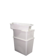 White Storage Container With Lid - 12L