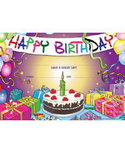 Happy Birthday Cake Certificate - 35pk