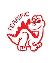 Merit Stamp - Terrific Dinosaur