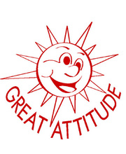 Merit Stamp - Great Attitude Sun