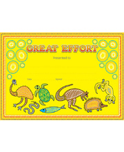 *SPECIAL: Great Effort Certificate - Indigenous 20pk