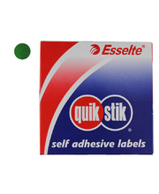 Removable Circle Stickers 14mm 1050pk - Green