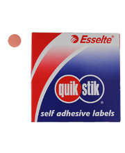 Removable Circle Stickers 14mm 1050pk - Pink