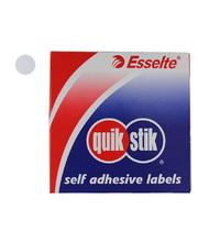 Removable Circle Stickers 14mm 1050pk - White