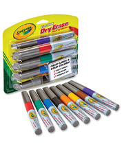 Crayola Visi-Max Whiteboard Markers Assorted Colours - 8pk