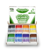 Crayola Ultra Clean Washable Broadline Markers - Classic Colours 200pk