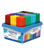 Giotto Children's Thick Markers (Turbo Maxi) - 108pk