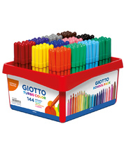 Giotto Children's Thin Markers (Turbo Colour) - 144pk