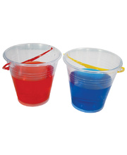 Plasto Transparent Bucket - Small 13.5cmH