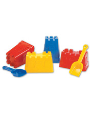 Dantoy Sand Castle Moulds & Shovel - 6pcs