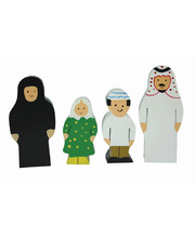 Multicultural Wooden Family Set - Arabic 4pcs