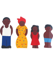 Multicultural Wooden Family Set - African 4pcs