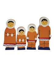 Multicultural Wooden Family Set - Eskimo 4pcs