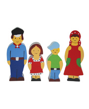 Multicultural Wooden Family Set - European 4pcs