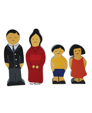 Multicultural Wooden Family Set - Japanese 4pcs