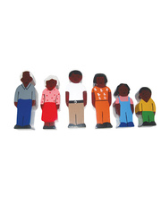 Multicultural Wooden Family Set - African 6pcs