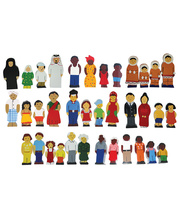 Multicultural Wooden Family Set - 8 Family Set 36pcs