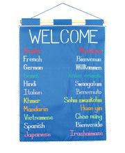 Welcome Languages Wall Hanging - 32 x 62cm