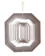 *SPECIAL: Wind Spinner - Silver Octagon 30 x 20 x 30cmH