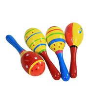 Wooden Maraca 15cm - Assorted Colours