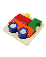 Blue Ribbon Chunky 3D Tray Puzzle - Train