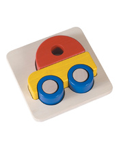 Blue Ribbon Chunky 3D Tray Puzzle - Car