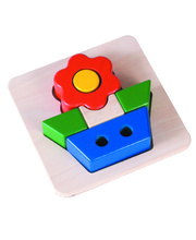 Blue Ribbon Chunky 3D Tray Puzzle - Flower